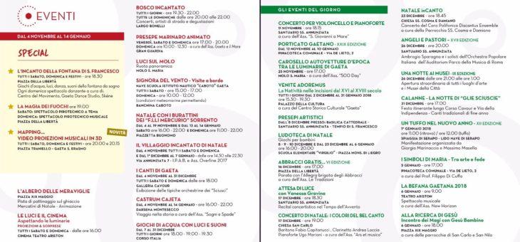 Luminarie di Gaeta: ecco il programma completo degli eventi