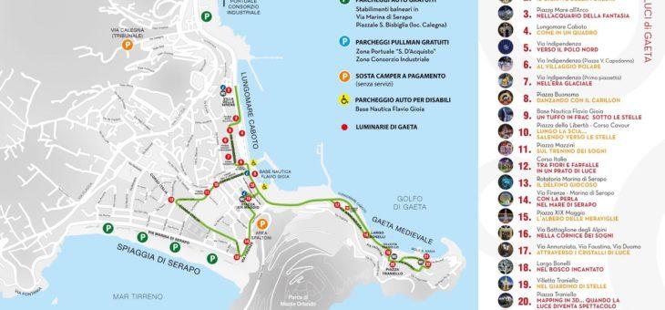 Luminarie di Gaeta: ecco il percorso pedonale per le installazioni